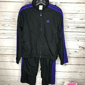 Adidas Womens 2 piece Athletic track suit Size S